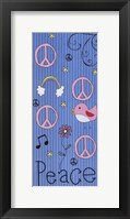 Peace - Girlie Framed Print