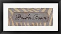 Framed Powder Room - Grey & Cream