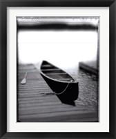 Framed Lone Canoe, Lake Rosseau