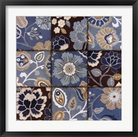 Framed Patchwork Motif Blue