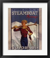 Ski Steamboat Springs Framed Print