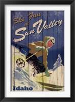Ski Sun Valley Framed Print