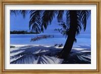 Framed Cerulean Paradise