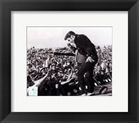 Framed Elvis Presley on stage with fans (#1)