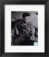Framed Elvis Presley wearing US Army jacket (#2)