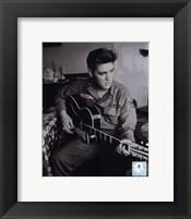 Framed Elvis Presley wearing US Army jacket (#2)