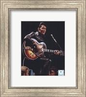 Framed Elvis Presley Wearing Black Leather Jacket (#4)