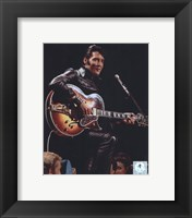 Framed Elvis Presley Wearing Black Leather Jacket (#4)