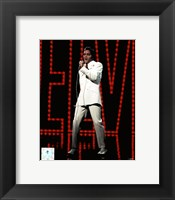 Framed Elvis Presley Wearing White Suit (#5)