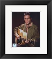 Framed Elvis Presley Wearing Olive Jacket (#8)