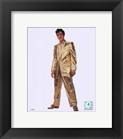 Framed Elvis Presley Wearing Gold Suit (#10)