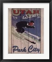 Ski Park City Framed Print