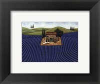 Framed Lavender Field