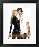 Framed Chuck Bartowski & Sarah Walker