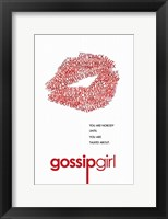 Framed Gossip Girl - Red Lips