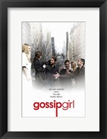 Framed Gossip Girl - You are Nobody Until You Are Talked About You White