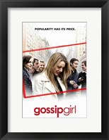 Framed Gossip Girl - Popularity Has Its Price