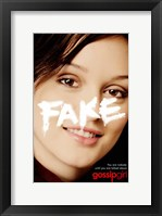 Framed Gossip Girl Fake