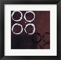 Framed Red Circles I