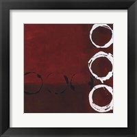 Framed Red Circles II