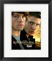 Framed Supernatural (TV) Sam & Dean Winchester
