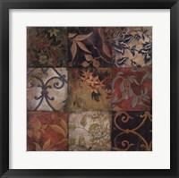 Framed Floral Mosaic V