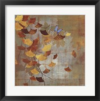 Framed Gingko Branch I