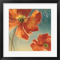 Framed Lovely I (New Orange Poppies)