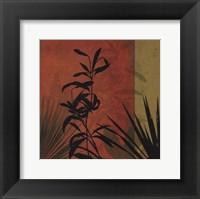 Framed Tropical Silhouette I