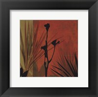 Tropical Silhouette II Framed Print