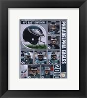 Framed 2010 Philadelphia Eagles Composite
