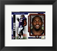 Framed Ray Lewis 2010 Studio Plus