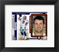 Framed Tony Romo 2010 Studio Plus