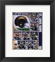 Framed 2010 St. Louis Rams Team Composite