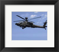 Framed AH-64 Apache US Army photo