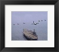Framed USS George Washington (CVN-73) United States Navy