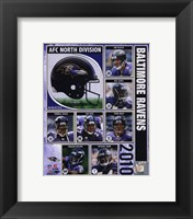 Framed 2010 Baltimore Ravens Team Composite