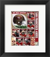 Framed 2010 San Francisco 49ers Team Composite