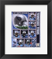 Framed 2010 Tennessee Titans Team Composite