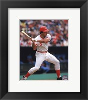 Framed Johnny Bench Action