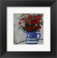 Framed Blue Pitcher Bouquet