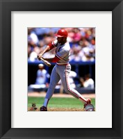 Framed Ozzie Smith 1988 Action