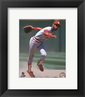 Framed Ozzie Smith 1985 Action