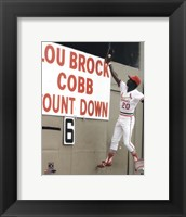 Framed Lou Brock Action