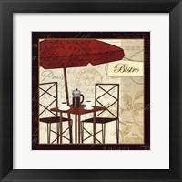 Framed Petit Cafe II with Border