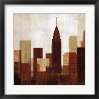 Summer in the City III Framed Print
