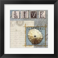 Beach Journal III Framed Print