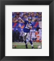 Framed Eli Manning 2010 Action