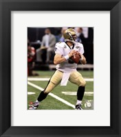 Framed Drew Brees 2010 Action
