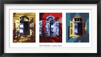 Framed Caribbean Medley (triptych)